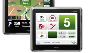 Econav is a new sat nav that uses GPS to supply fuel-saving driving advice.