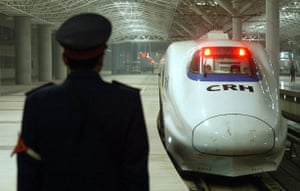 High-speed trains: Bullet train on a trial run in China