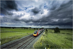 High-speed trains: A Virgin Pendolino train on the West Coast main line.