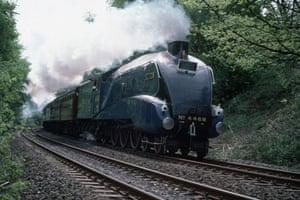 High speed trains: The Mallard, the fastest steam locomotive in the world in motion.