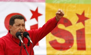 Hugo Chavez speaks at his closing campaign rally ahead of Sunday's referendum
