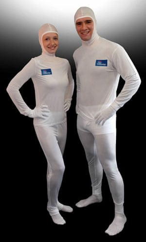 Valentines presents: A couple wearing Dermasilk pyjamas for Travelodge hotels.