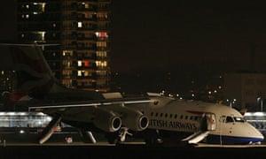 BA 8456 flight crashed landed at City Airport
