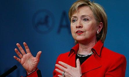 Hillary Rodham Clinton addresses the Asia Society in New York.