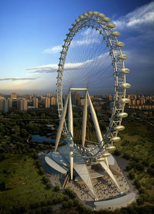 Big wheels : Beijing Great Wheel which will stand in eastern Beijing's Chaoyang Park.