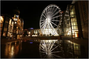 Big wheels : The Wheel of Manchester in Exchange Square.