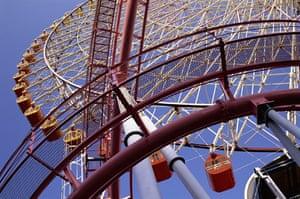 Big wheels : The Cosmo Clock Ferris Wheel in Yokohama, Japan.