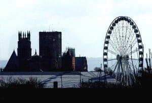 Big wheels : The York Eye joins York Minster on the skyline of York.