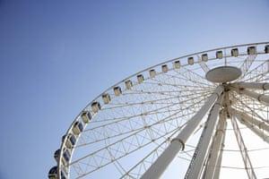 Big wheels : Great Dubai Wheel in Dubai, United Arab Emirates.