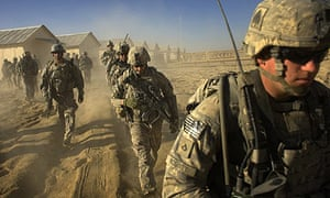 US troops set out on a patrol in Paktika province, Afghanistan