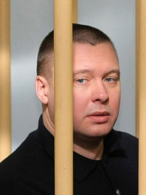 Anna Politkovskaya trial: Pavel Ryaguzov at the trial into the murder of Anna Politkovskaya.