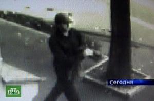 Anna Politkovskaya trial: Security footage of a man suspected in the murder of Anna Politkovskaya.