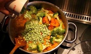 Broccoli and peas