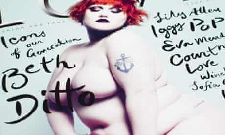 Beth Ditto naked on the cover of Love magazine
