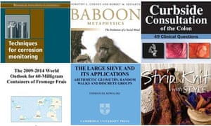 Oddest book titles of the year shortlist