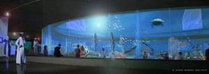 Underwater museum: Artist's impression of the proposed underwater museum in Alexandria, Egypt