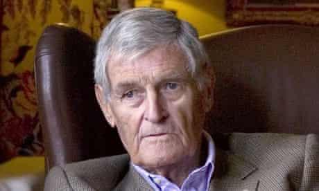 Sir Bernard Ashley at his hotel Llangoed Hall, Wales