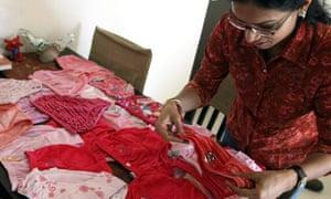 India pink undies protest