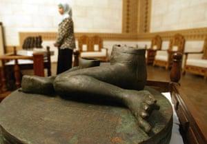 Baghdad museum : The Bassetki Statue, (around 2300 B.C.) is on display in Baghdad's Museum