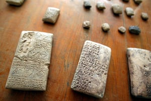 Baghdad museum : ablets and other stolen antiquities that were returned to the Iraqi Museum