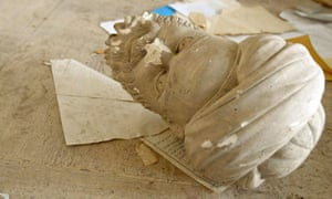A beheaded sculpture in the Iraqi national museum