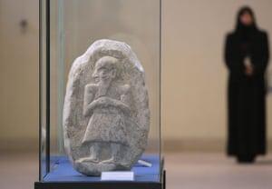iraqi national museum: An Akkadian stone sculpture at the Iraqi National Museum
