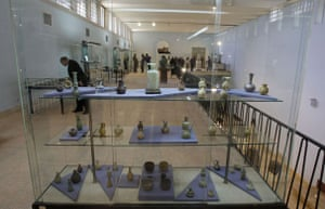 iraqi national museum: Iraqis visit the restored Iraqi National Museum on the day it was re-opened