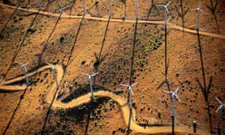 A wind farm in California's Mojave Desert