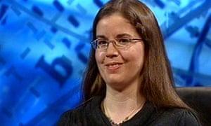 Gail Trimble in University Challenge final 2009