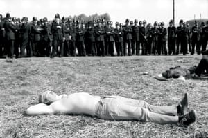 Don Mcphee: Miners sunbathing at Orgreave coking plant