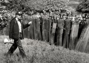 Orgreave Battle: Arthur Scargill facing up to police with riot shields