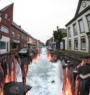 3D street art: Lava Burst