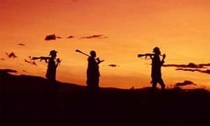 Karamojong warriors, Katine