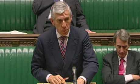 Jack Straw statement on Iraq invasion minutes