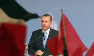 Turkish Prime Minister Recep Tayyip Erdogan speaks