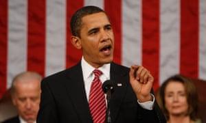 Barack Obama addresses Congress