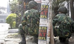 Army mutiny Dhaka