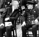 Franklin D Roosevelt and Winston Churchill in 1941.