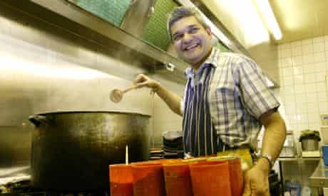 Manoj Thanki, owner and chef of Kastoori restaurant in Tooting, London.