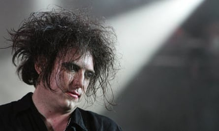 Robert Smith of British band The Cure