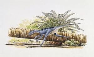 Gallery Dinosaurs: Eoraptor running in the forest