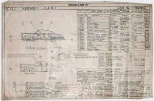 Gallery Thunderbirds auction: FAB 1 original Dinky blueprints.