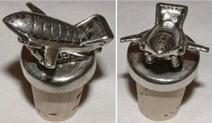 Gallery Thunderbirds auction: Pewter Thunderbird 2 Bottle Stopper