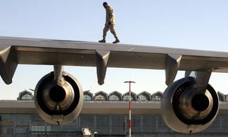 Manas US airbase Bishkek Kyrgyzstan