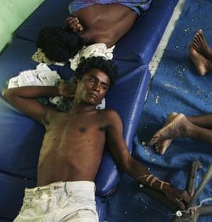 Gallery Rohingya refugees: Rohingya boat people receive medical treatment