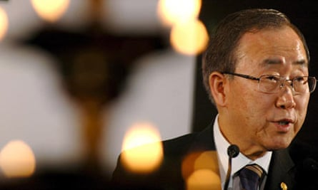 UN Secretary General Ban Ki-moon speaks during the Delhi Sustainable Development Summit.