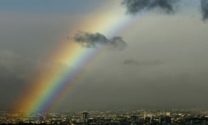A rainbow over San Jose in Costa Rica