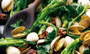 Food-Tupperware Chorizo with Clams and Purple Sprouting Broccoli