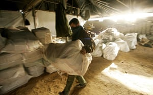 Gallery Tunnels under Gaza: Gaza tunnels Palestinians inspect and reconstruct Egypt-Gaza tunnels