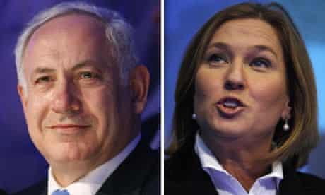 Benjamin Netanyahu adn Tzipi Livni